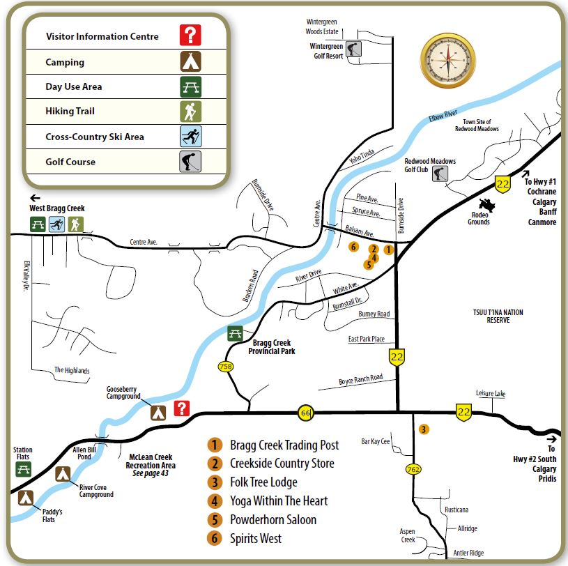Bragg Creek map