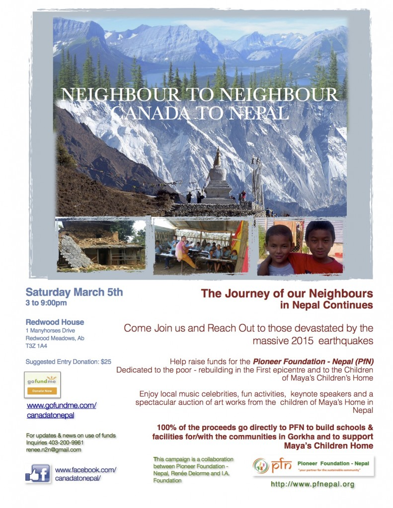 Neighbor to Neigbor poster - march 5, 2016