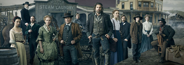 Robin McLeavy as Eva , Christopher Heyerdahl as The Swede, Phil Burke as Mickey McGinnes, Chelah Horsdal as Maggie Palmer, Colm Meaney as Thomas 'Doc' Durant, Mackenzie Porter as Naomi, Anson Mount as Cullen Bohannon, Jennifer Ferrin as Louise Ellison, Jake Weber as John Campbell, Tayden Marks as Ezra, Kasha Kropinski as Ruth and Dohn Norwood as Psalms - Hell On Wheels _ Season 4, Gallery - Photo Credit: James Minchin III/AMC