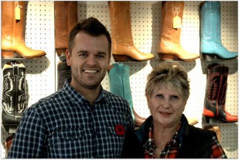 survvey contest winner at alberta boot